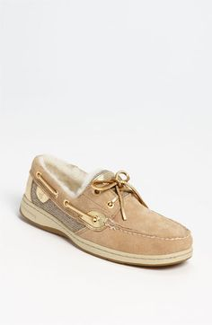 Fuzzy Sperry Top-Siders! Amazing! Sperry Top-Sider® 'Bluefish' Boat Shoe available at #Nordstrom