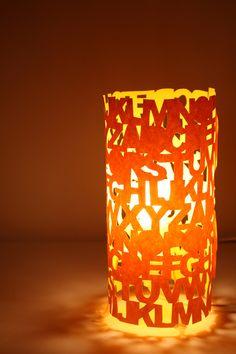 Typographic Lampshades : Mr Yen: Paper cut art