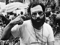 """Francis Ford Coppola on the set of """"Apocalypse Now."""" One of the craziest film shoots for sure. See the doc """"Heart of Darkness: A Filmmaker's Apocalypse"""" Donald Sutherland, Hugh Laurie, Phil Collins, John Travolta, Ozzy Osbourne, Martin Scorsese, Marlon Brando, Keith Richards, Janet Jackson"""