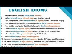 What is an idiom? Learn idiom definition, common idioms list and popular. What is an idiom? Learn idiom definition, common idioms list and popular sayings in English - Common English Idioms, Common Idioms, English Phrases, English Quotes, English Vocabulary, Improve Your English, Learn English, English English, English Verbs