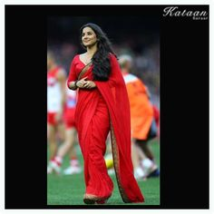 #Vidya Balan in a simple yet elegant RED saree