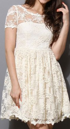 Full Floral Lace Dress