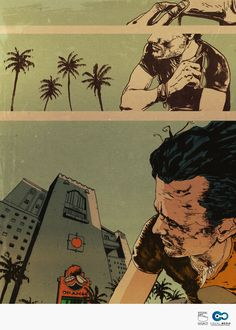 #comic #sequence #Miami #composition #reference #illustration #artist