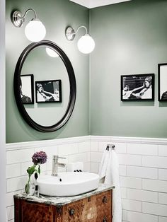 You Should Totally Bookmark These Plush Basement Bathroom Ideas Tags: Tags: basement bathroom ideas, basement bathroom plans, small bathroom design ideas, small bathroom decor ideas Wc Retro, Retro Color, White Subway Tiles, Bathroom Inspiration, Bathroom Ideas, Bathroom Plans, Bathroom Designs, Bathroom Vanities, Green Bathroom Paint