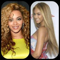 What do you think? Do you like Beyonce better with curly or straight hair?  #Celebrity #Beyonce