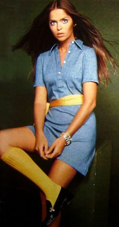 Barbara Bach - Knee High College Girl Socks Yes, these were popular when I was in grade 9!   So, 1962