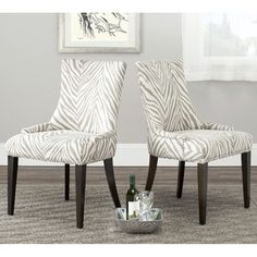 Shop for Safavieh Parsons Dining Becca Zebra Grey Dining Chair. Get free shipping at Overstock.com - Your Online Furniture Outlet Store! Get 5��0in rewards with Club O! - 14505137