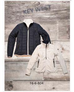 Fashion Jackets and Gilets Jacket Style, Jacket Dress, Ireland Clothing, Key West, Navy And White, Knitwear, Winter Jackets, Lady, Coat