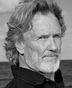 Kris Kristofferson~Not just good looks but a great voice, wonderful songwriter & highly intelligent man. I love men with brains!