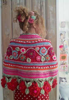 Ideas For Crochet Poncho Wrap Prayer Shawl Crochet Prayer Shawls, Crochet Shawls And Wraps, Crochet Scarves, Crochet Clothes, Crochet Hats, Quick Crochet, Diy Crochet, Irish Crochet, Freeform Crochet