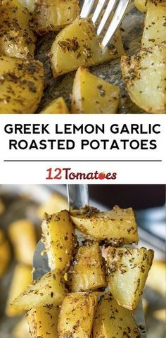 Greek Lemon Garlic Roasted Potatoes - looks amazing and simple!!!!!!!