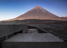 Award-winning building destroyed by volcano