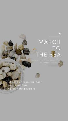 March To The Sea Lockscreen, Twenty One Pilots Lyrics (Self Titled Aesthetics) | Graphic Design + Photography by KAESPO