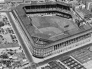 Ebbets Field was home to the Brooklyn Dodgers, which Sam took Joe to see, although Joe gets into a fight with a group of Germans at the game. When Sam starts making a lot of money he gets box seats at Ebbets Field. Baseball Park, Dodgers Baseball, Baseball Classic, Baseball Pictures, Field Of Dreams, Yankee Stadium, Sports Photos, Los Angeles Dodgers, San Francisco Giants
