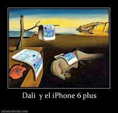 Dali  y el iPhone 6 plus