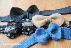 Dahlhart Lane: Bow Ties made out of Felted Wool Sweaters (Tutorial)