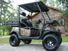 Electric Hunting Golf Cart with Roll Cage                                                                                                                                                                                 More