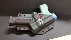 SOB kydex holster with single mag. Molon labe made by quick lock holsters Sob Holster, Tactical Holster, Tactical Gear, Small Of Back Holster, Custom Holsters, Concealed Carry Holsters, Tac Gear, Tactical Equipment, Gun Storage