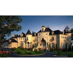 French Country Plans, French Chateau and Clasical Castle floor plans.... ❤ liked on Polyvore