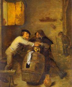 Peasants in a Tavern by Adriaen Brouwer