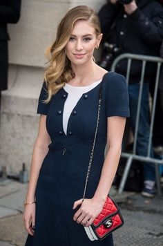 Dylan Penn wearing a Chanel Mini Flap Bag