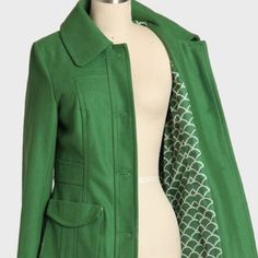 Anthropologie Tulle Peacoat - Priced to Sell! Anthropologie Tulle wool peacoat. Gorgeous, vibrant green. Gently used and in great condition. Priced to sell! Anthropologie Jackets & Coats Pea Coats