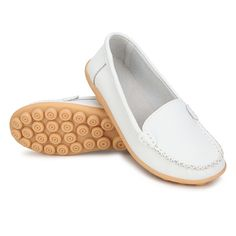 IMPORTANT NOTE: THESE SHOE RUN ONE SIZE SMALLER THAN US SIZES SO PLEASE ORDER ONE SIZE UP, I.E. IF YOU USUALLY WEAR A 7, ORDER AN 8 Description: Color: White,Black,Brown, Heel Type: Flat Heel Height: