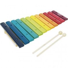 Rainbow Xylophone Vilac Children- A large selection of Toys and Hobbies on Smallable, the Family Concept Store - More than 600 brands. Wooden Rainbow, Retro Kids, Teal Yellow, Musical Toys, Jungles, Organic Modern, Outdoor Toys, Chopsticks, Karaoke