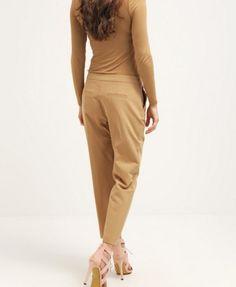 Dorothy Perkins Petite Spodnie materiałowe light brown
