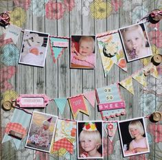 interesting scrapbook layout. decorations-crafts-creations