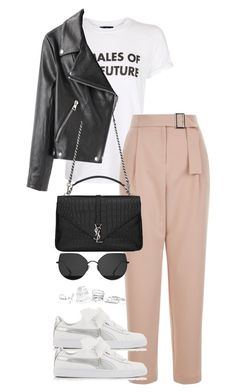 """""""Untitled #3823"""" by theeuropeancloset on Polyvore featuring Topshop, Puma, Gentle Monster, Acne Studios, Yves Saint Laurent and GUESS"""