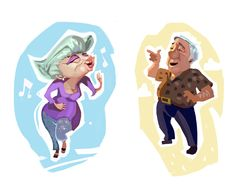 by Mike at The STUDIO #grandparents #conceptart