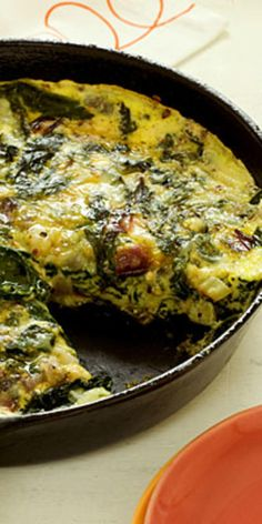 Frittata With Ricotta and Mixed Greens  - Eggs and veggies in the morning are a delicious way to jump-start your metabolism and fuel your whole day