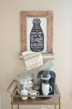 DIY Coffee Cart -