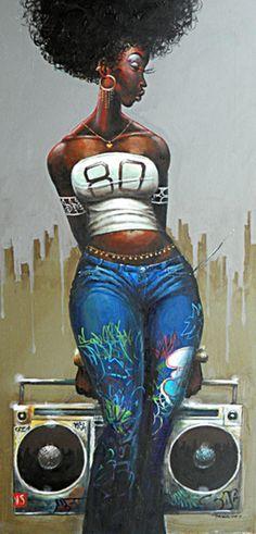 Urban black art frank morrison 24 ideas for 2019 Black Love Art, Black Girl Art, Art Girl, Black Girls, Frank Morrison Art, Look Hip Hop, Comics Anime, Natural Hair Art, By Any Means Necessary