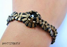 braided waves- cool design with half Tila or brick beads