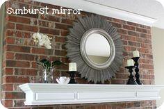 wood shim sunburst mirror