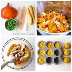 Healthy Fish Baby food puree & pumpkin for weaning babies aged 6 months - 7 months