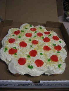 Pizza cupcake cake