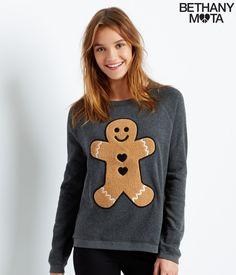 Aeropostale Gingerbread Man Slouchy Raglan Sweatshirt from Aéropostale. Saved to Wishlist ✩. Jumper, Grey Sweater, Aeropostale, Bethany Mota Collection, Girl Outfits, Cute Outfits, Raglan, Gingerbread Man, Cozy Sweaters
