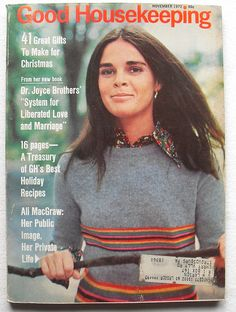 1972 ALI McGRAW Cover GOOD HOUSEKEEPING Vintage 1970s Magazine by Christian Montone, via Flickr
