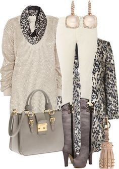 """Animal - boots with leggings"" by michelleruth on Polyvore"