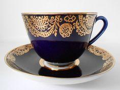 Vintage, USSR, LOMONOSOV Porcelain Coffee/Tea Cup and Saucer ...