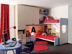 Modern Kids Bedroom Furniture, Modern bedroom furniture is known for its versatility in which it can be designed with any colors, can be used in more than one purpose and is easy to maintain and clea