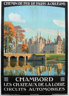 Collonges Automobile Tours French Art Deco Travel Poster 1920-30/'s France