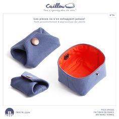 """Porte-monnaie / bourse """"CAILLOU"""" n°54 /// E-shop: www.alittlemarket.com/boutique/14h14 /// Shop: Kaleïdo Store, 13 rue St-Georges à Rennes"""