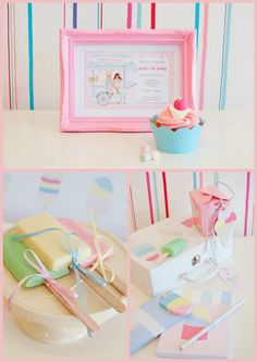 ♥ this ice cream party done by 'justcallmemartha'