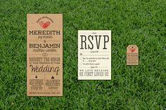 Rustic Vintage Wedding Invitation Set   Invitation + RSVP + Info Tag, DIGITAL PRINTABLE File