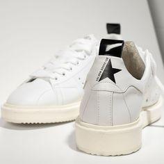 Golden Goose Starter Sneakers In Calf Leather White Women - Golden Goose / GGDB