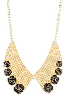 Just purchased this Pearl Rosette Bib Necklace  @HauteLook Can't wait to get it!